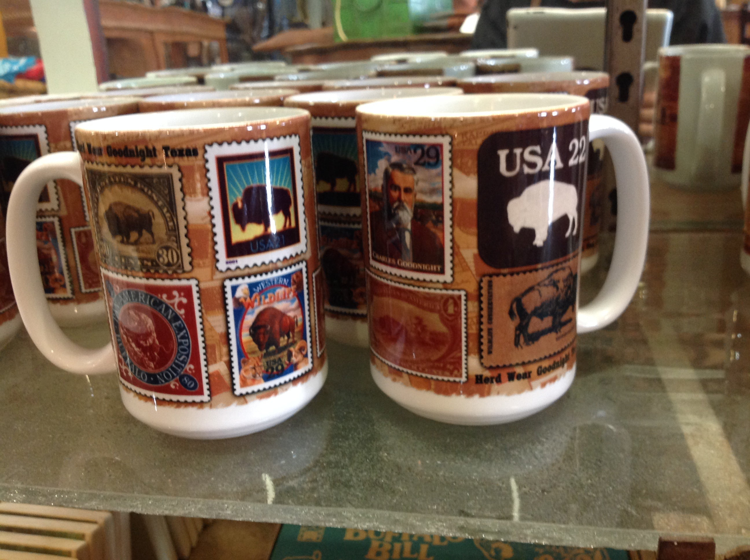 "American Made Coffee Mug - ""Buffalo Stamps"""