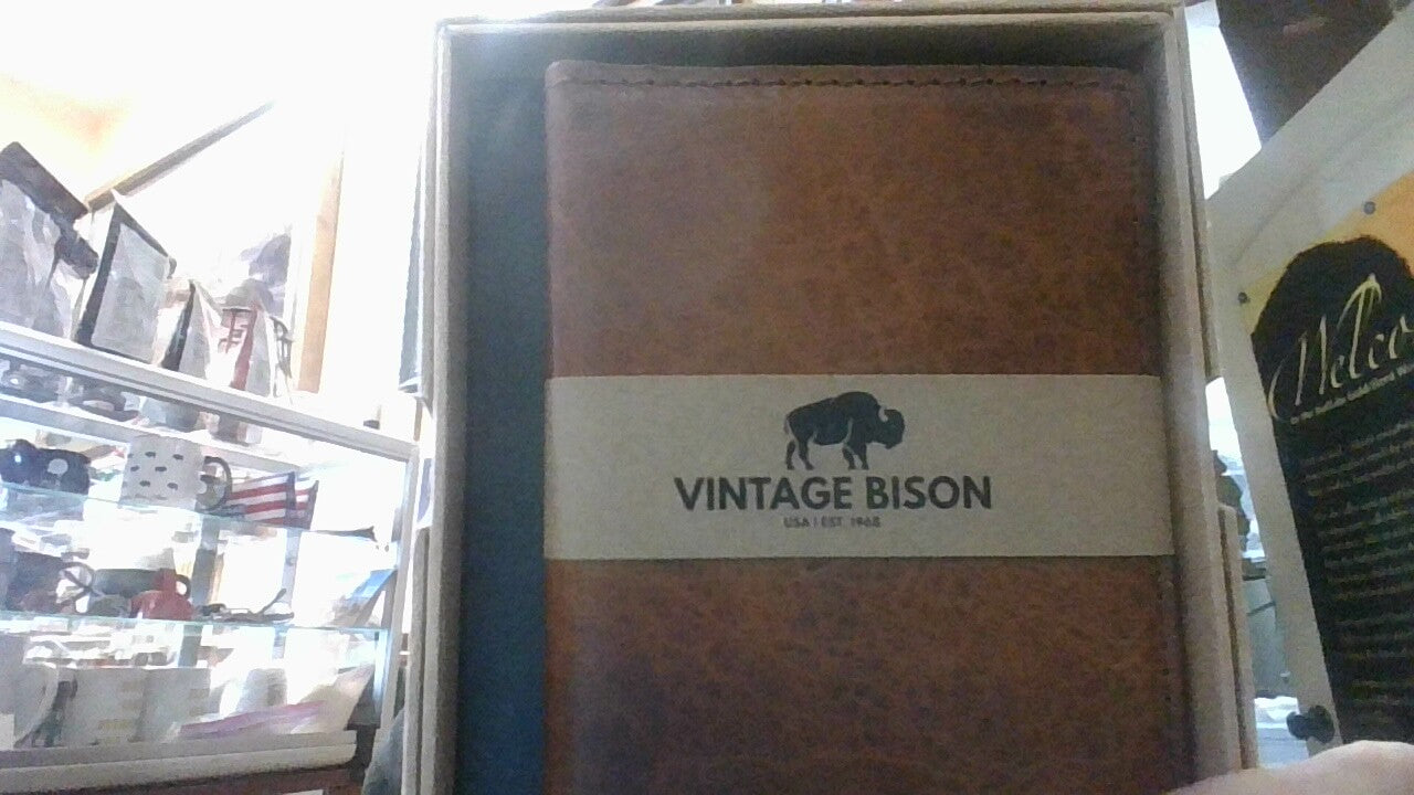 Vintage Bison Passport/Creditcard wallet 320 Reed Whiskey