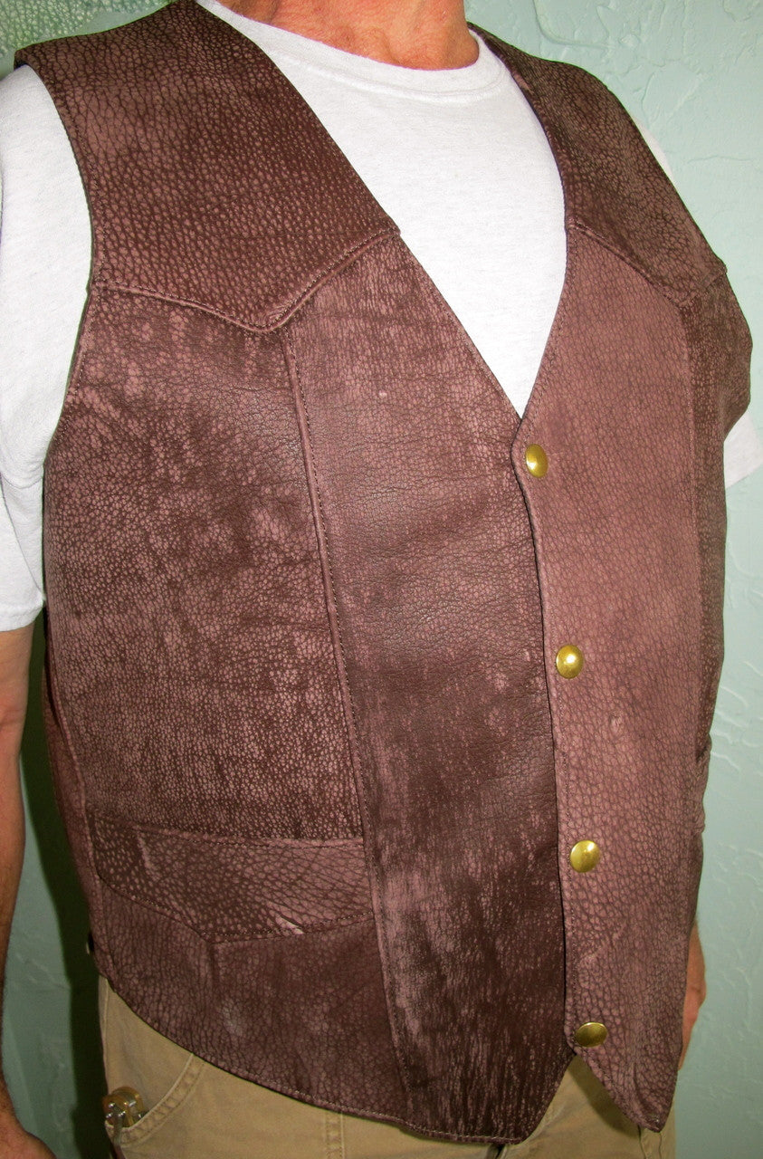 Bison Leather Stockman's Vests