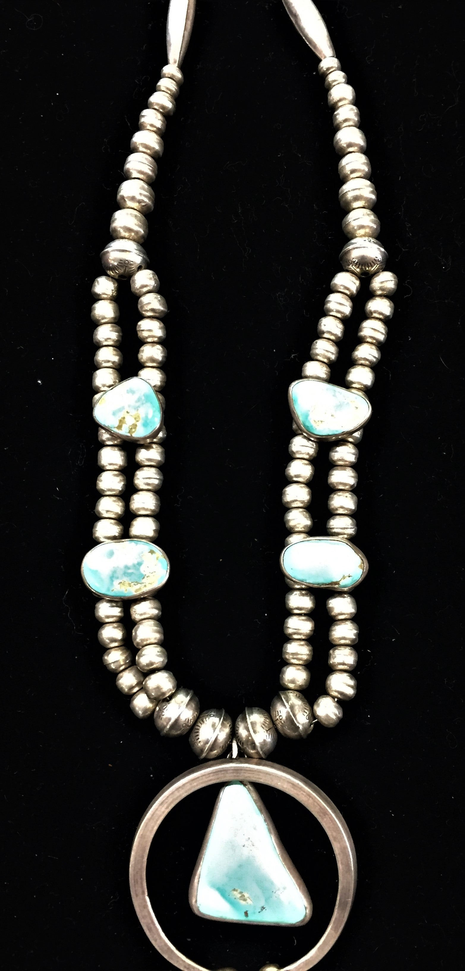 Vintage Navajo Sterling and Turquoise Necklace