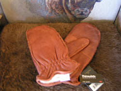 Bison Leather Thinsulate Lined Mitts