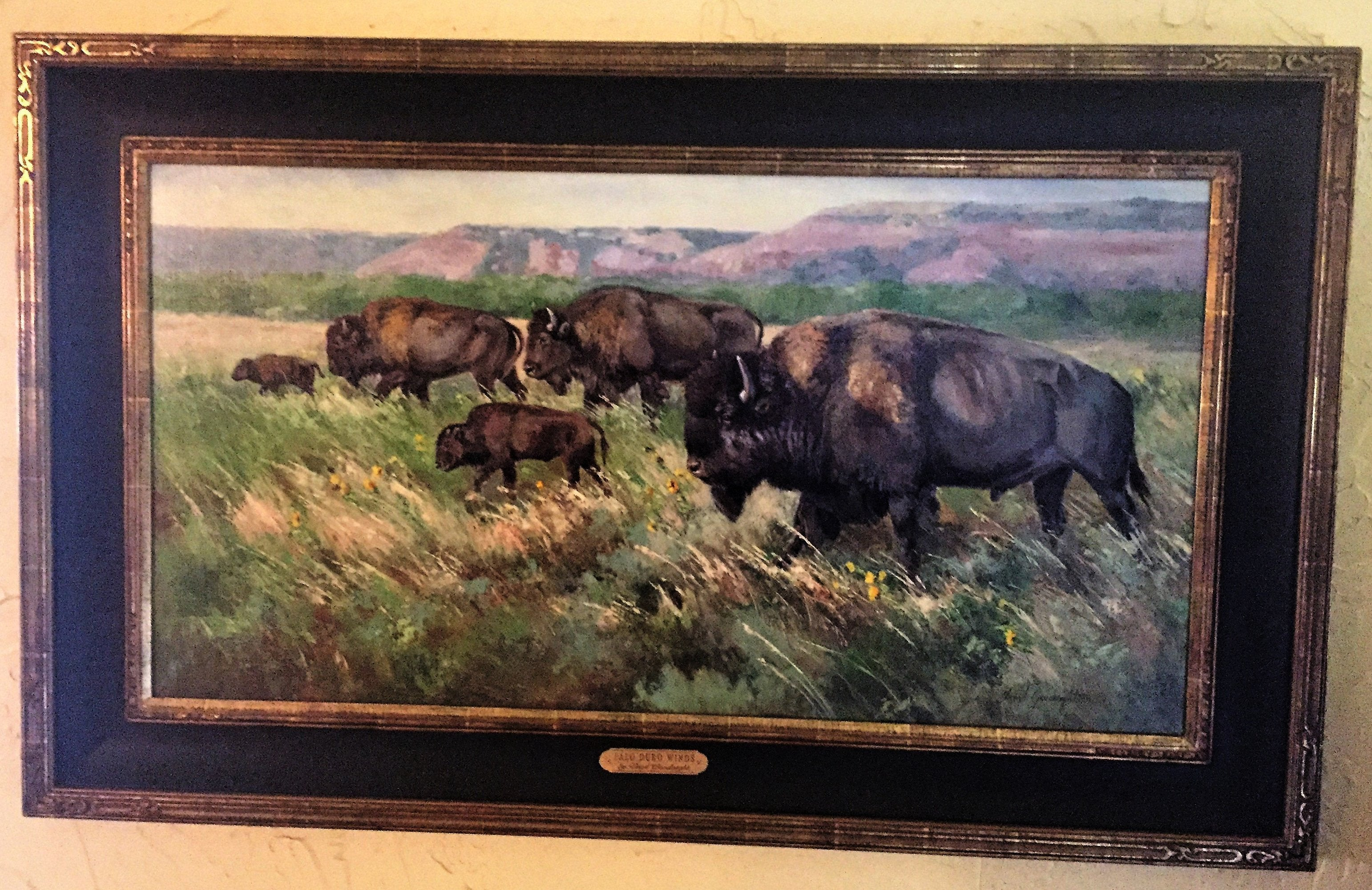"Original Oil Painting of ""Palo Duro Winds"" by Veryl Goodnight"
