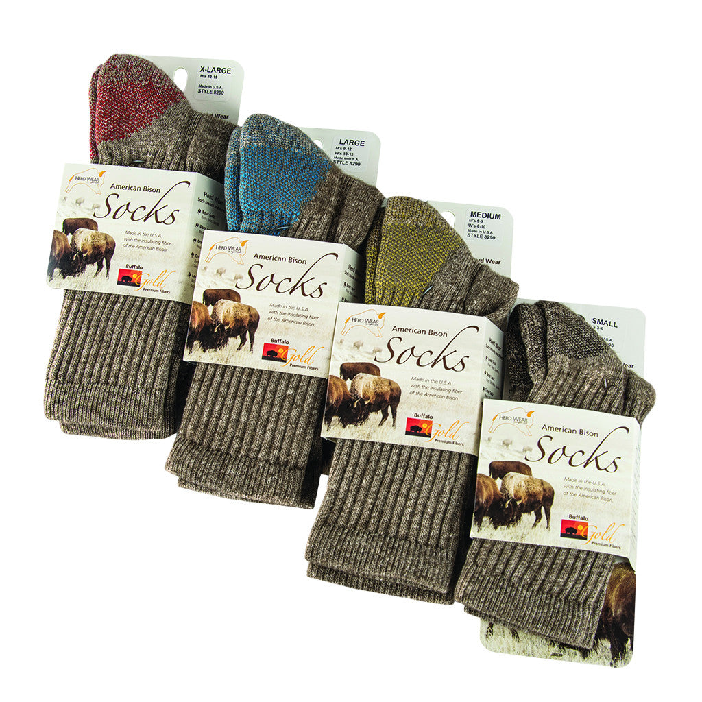 Bison and Silk Crew Sock