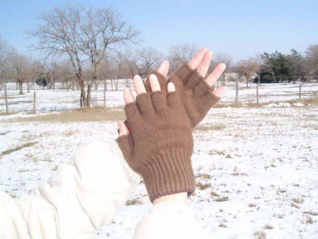 """One World"" Fingerless Gloves"
