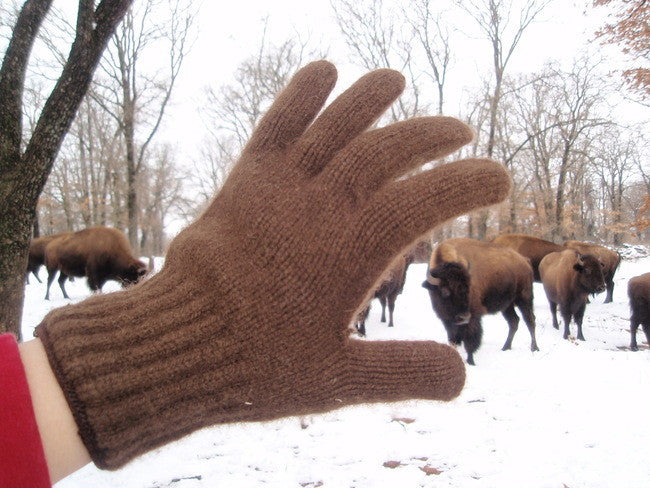 Full Fingered Bison Down Gloves