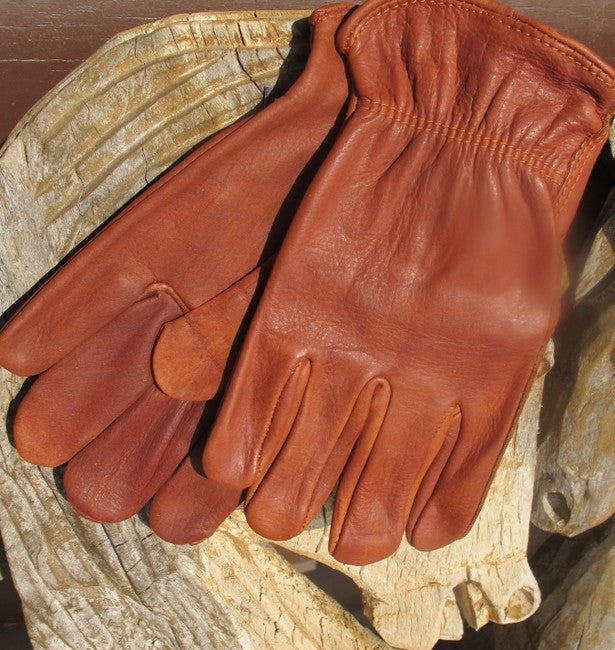 Bison Leather Work Gloves