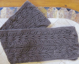 Bison down hand knit lace scarf