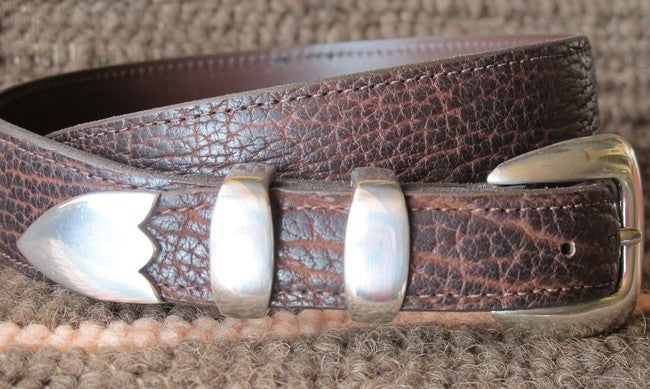 Chacon Bison Leather Belt