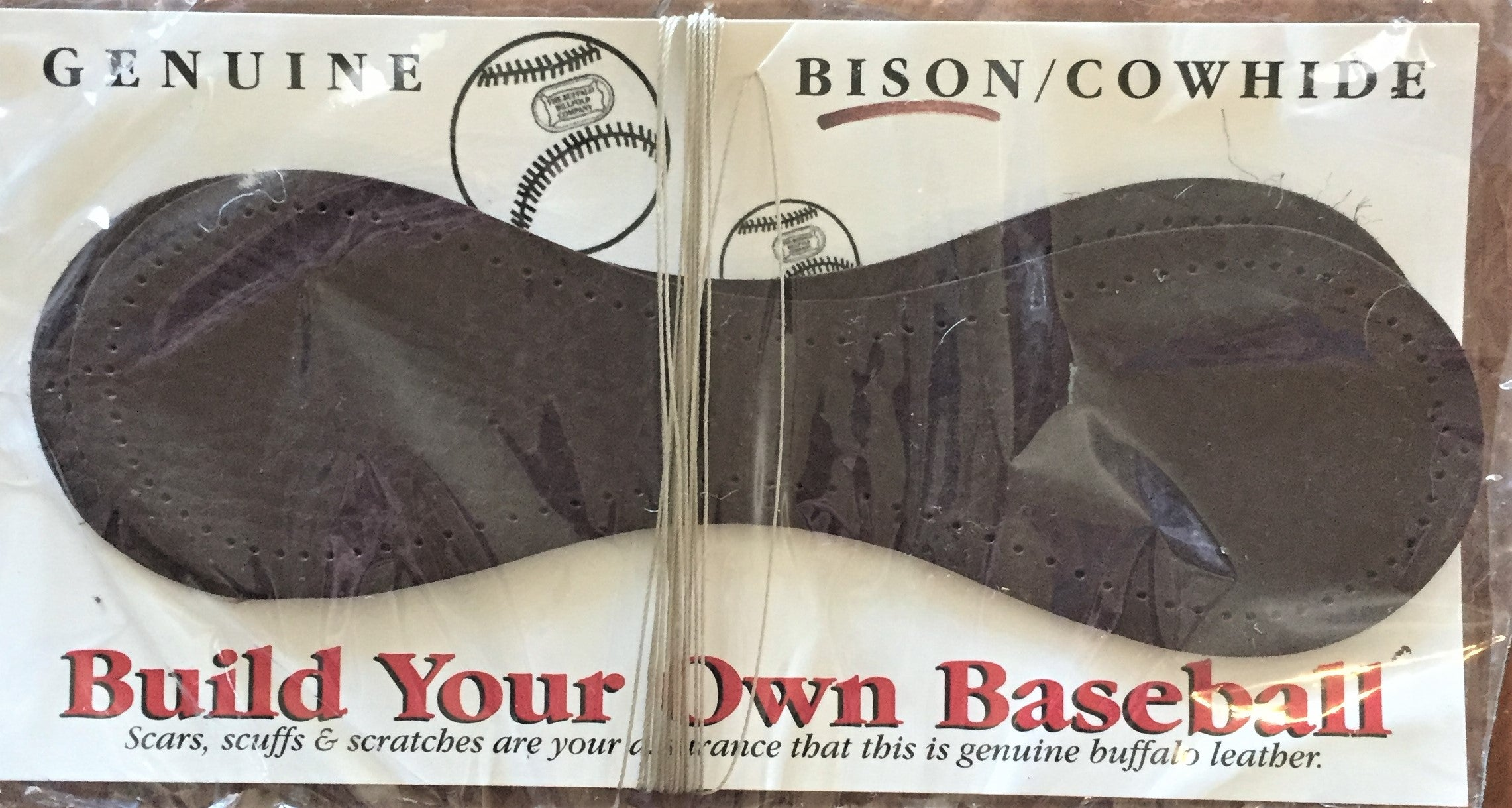 Bison Leather Baseball Kit - A super Parent/Grandparent/Child project for right now!
