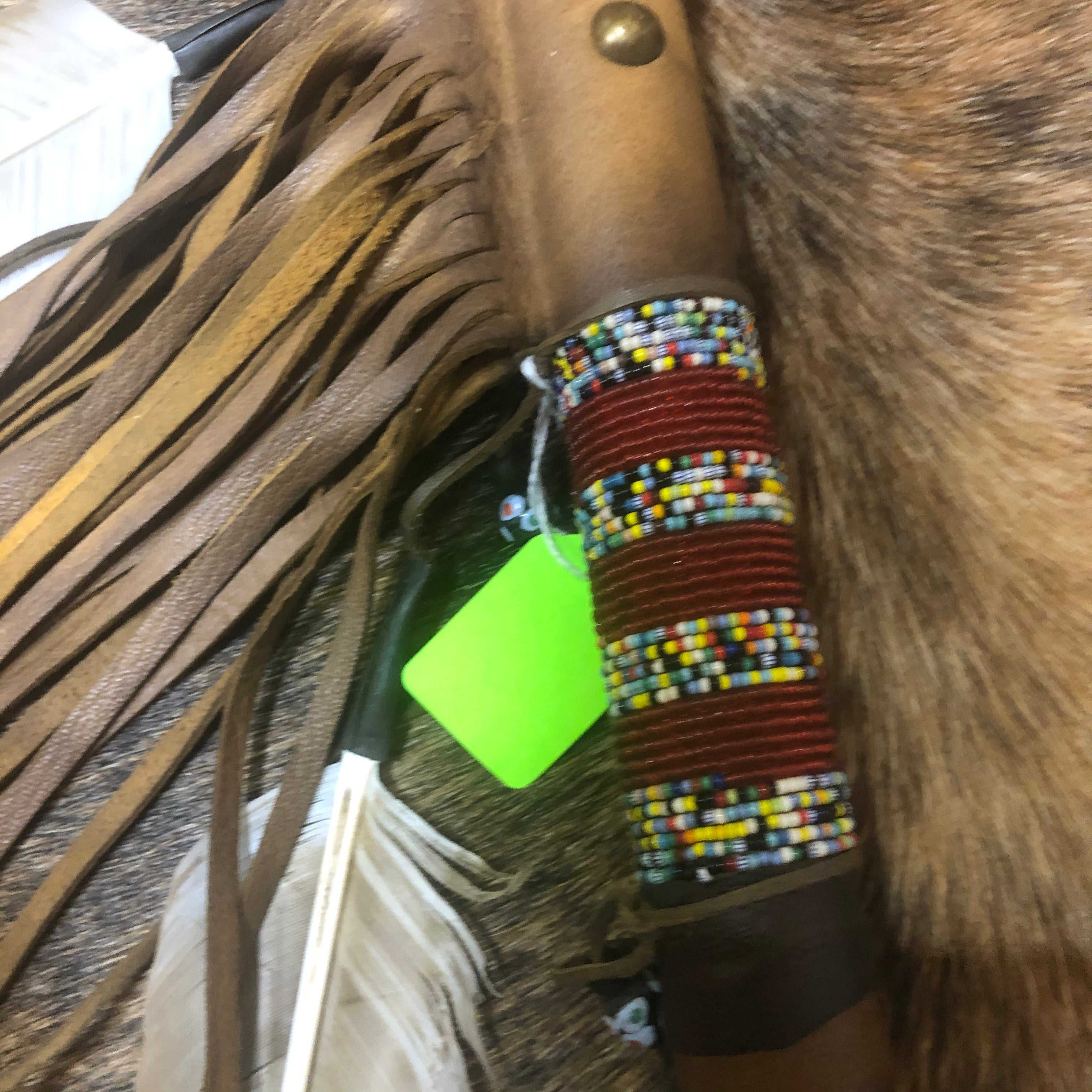 Bison Horn Dance Rattle - Native made