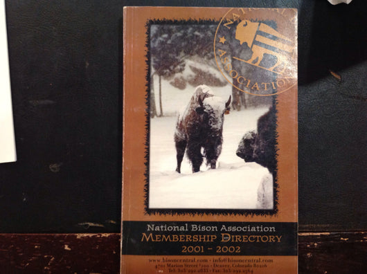 National Bison Association Membership Directory 2001-2002
