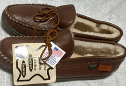 Footskins Bison Leather Slipper Men's