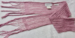 Lilac Cotton Fringe Scarf