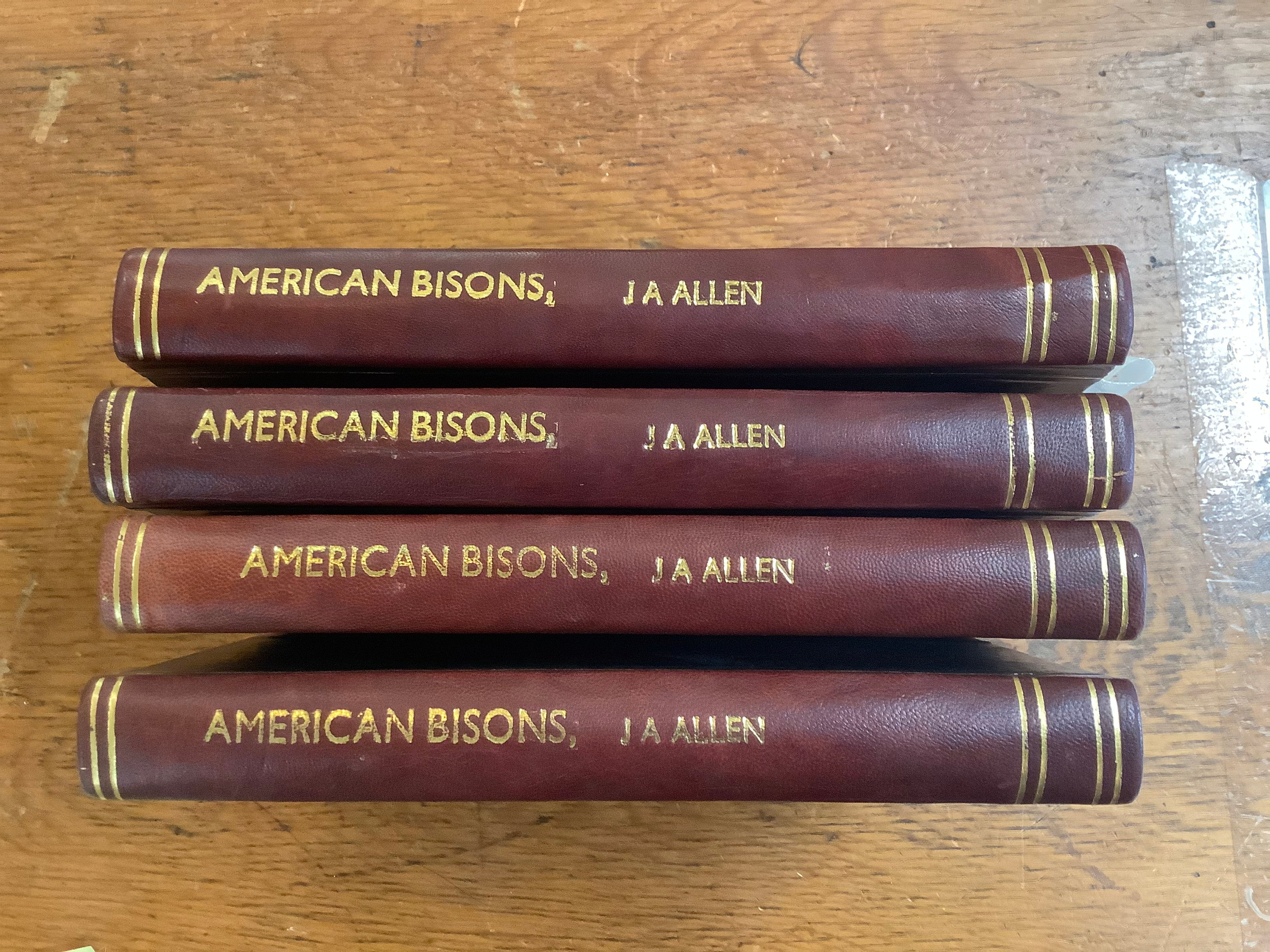 BOOKS - American Bisons, Living and Extinct    J. A. Allen