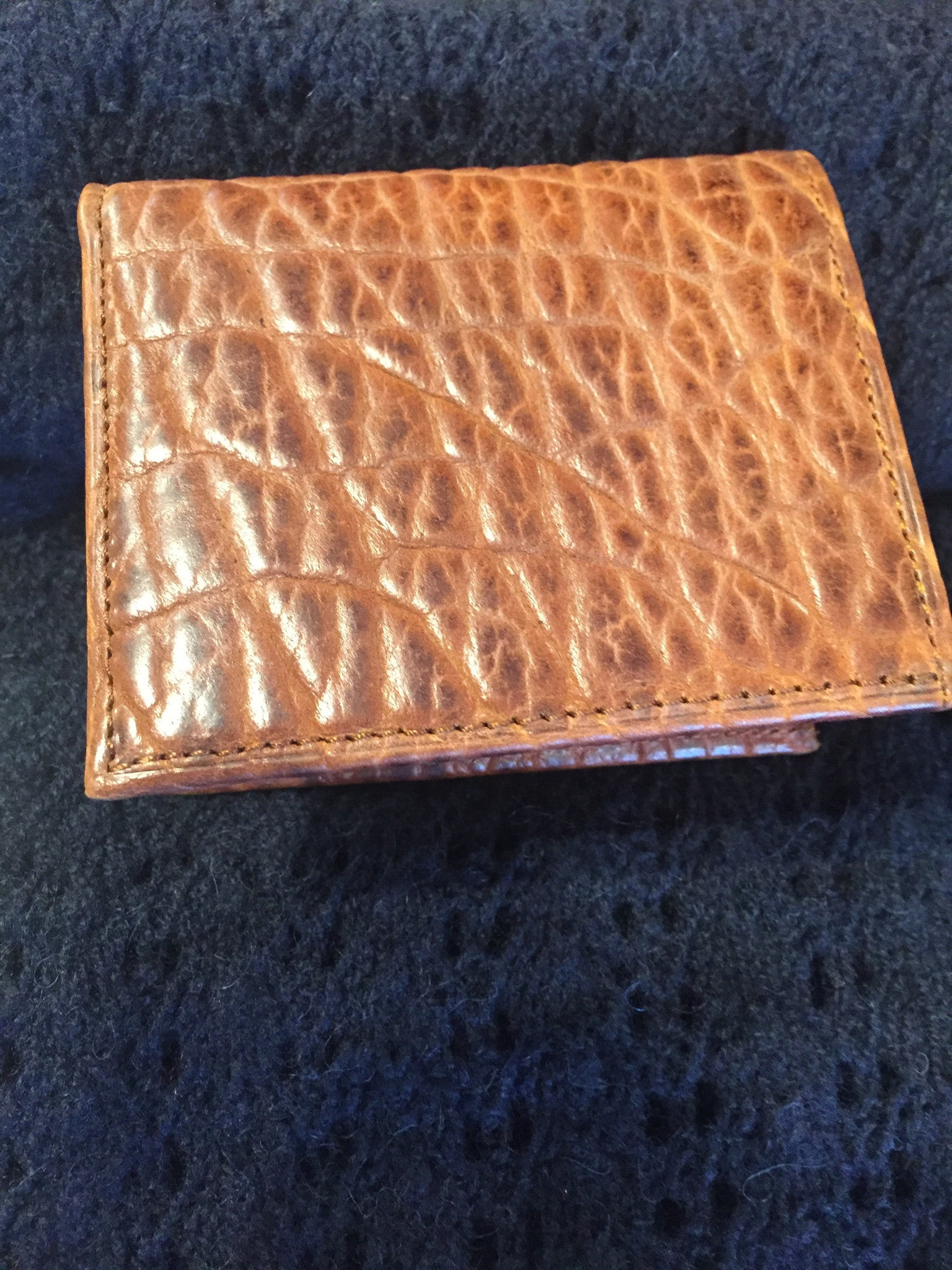 "Chacon ""Slim Fold"" Bison Leather Wallet"