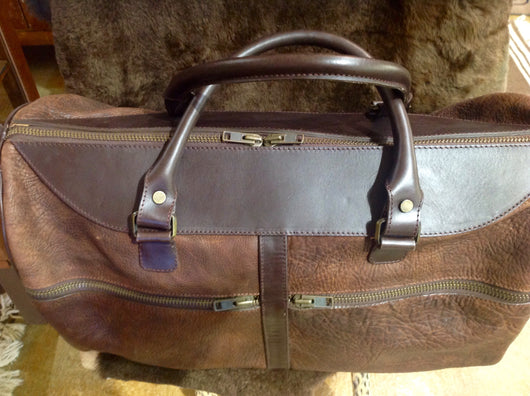 Loma Vista American Bison Leather Large Duffel Bag