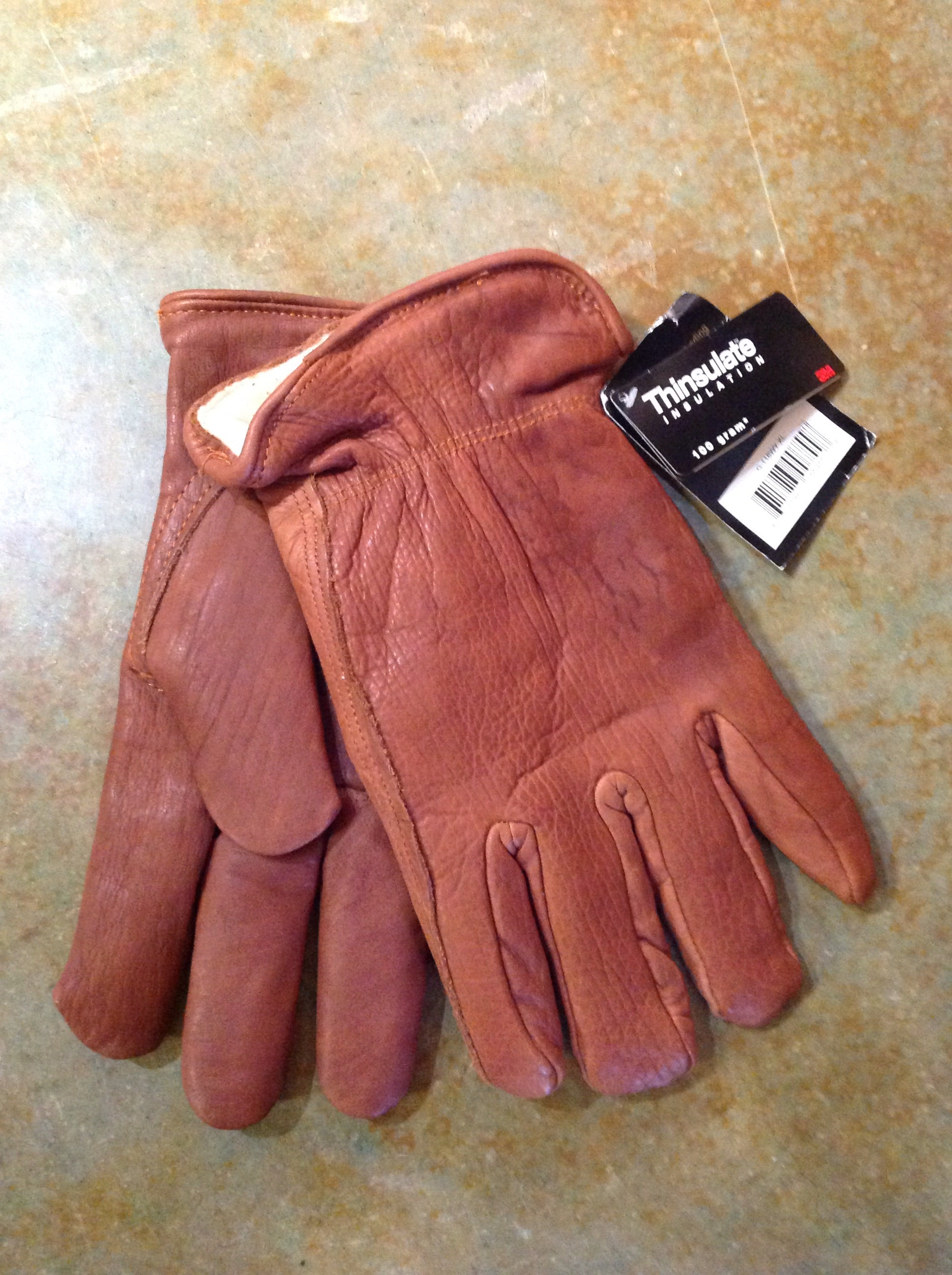 Bison Leather Thinsulate Lined Gloves