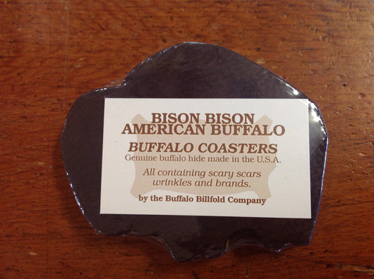 Bison Shape Leather Coasters