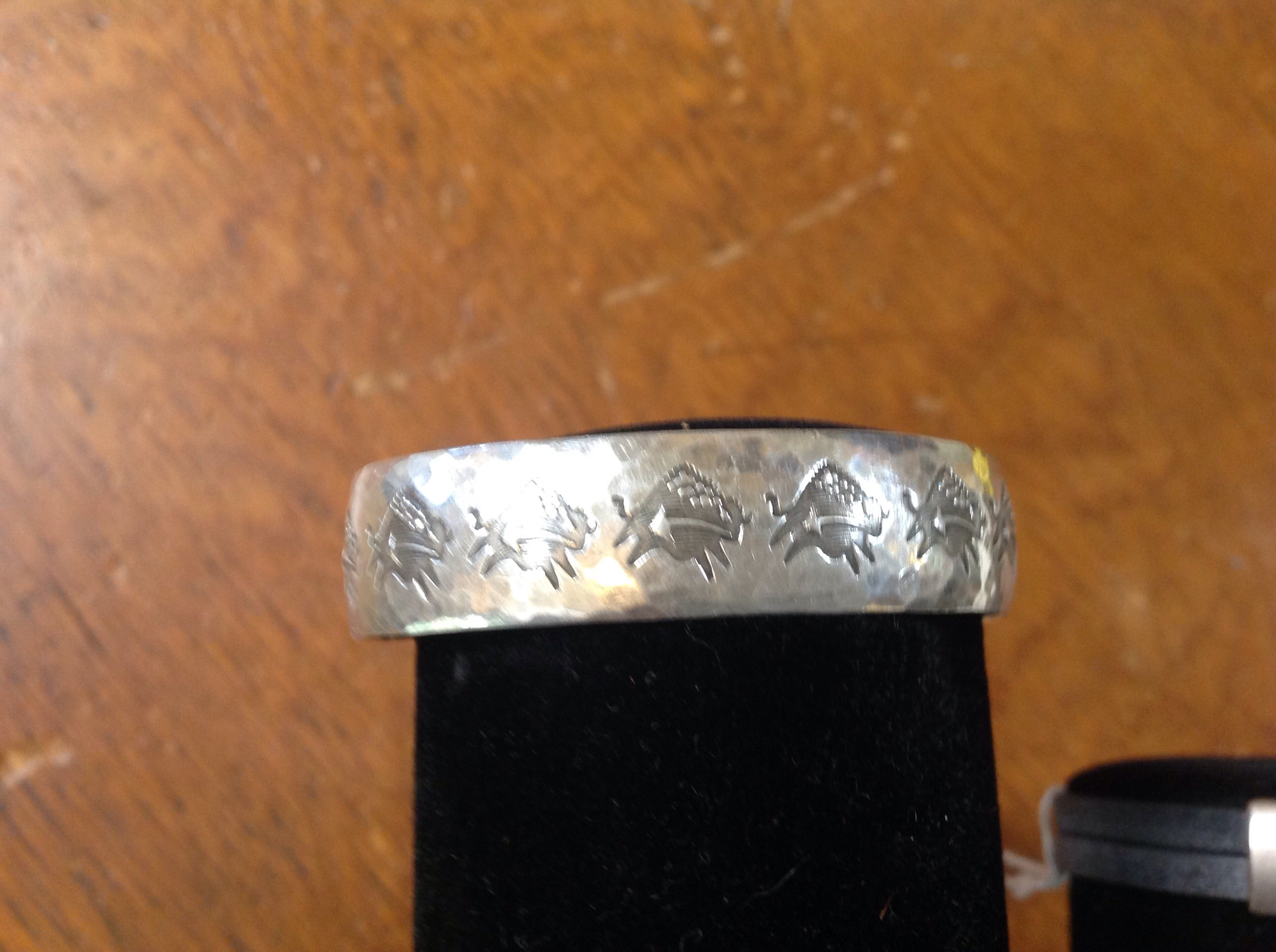 Vintage Sterling bracelet with fetish bison