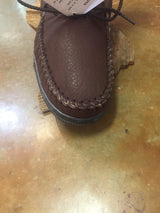Herd Wear Women's Bison Leather Shearling Lined slipper/ Moc from Footskins B-2200s RS