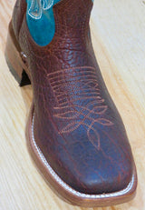 Women's Bison Leather Boulet Rodeo Boot - 6372