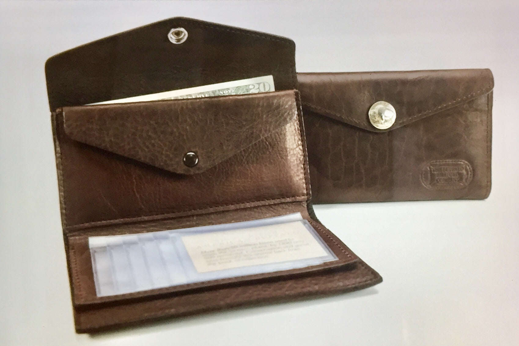 Buffalo Billfold Company - French Clutch Bison Leather Wallet