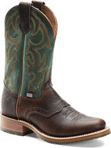 Double H Boots Jacob Round Toe Bison Leather Roper DH4639