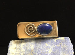 Sterling Silver and Lapis Money Clip