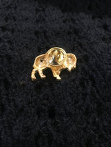 Gold Bison Hat Pin