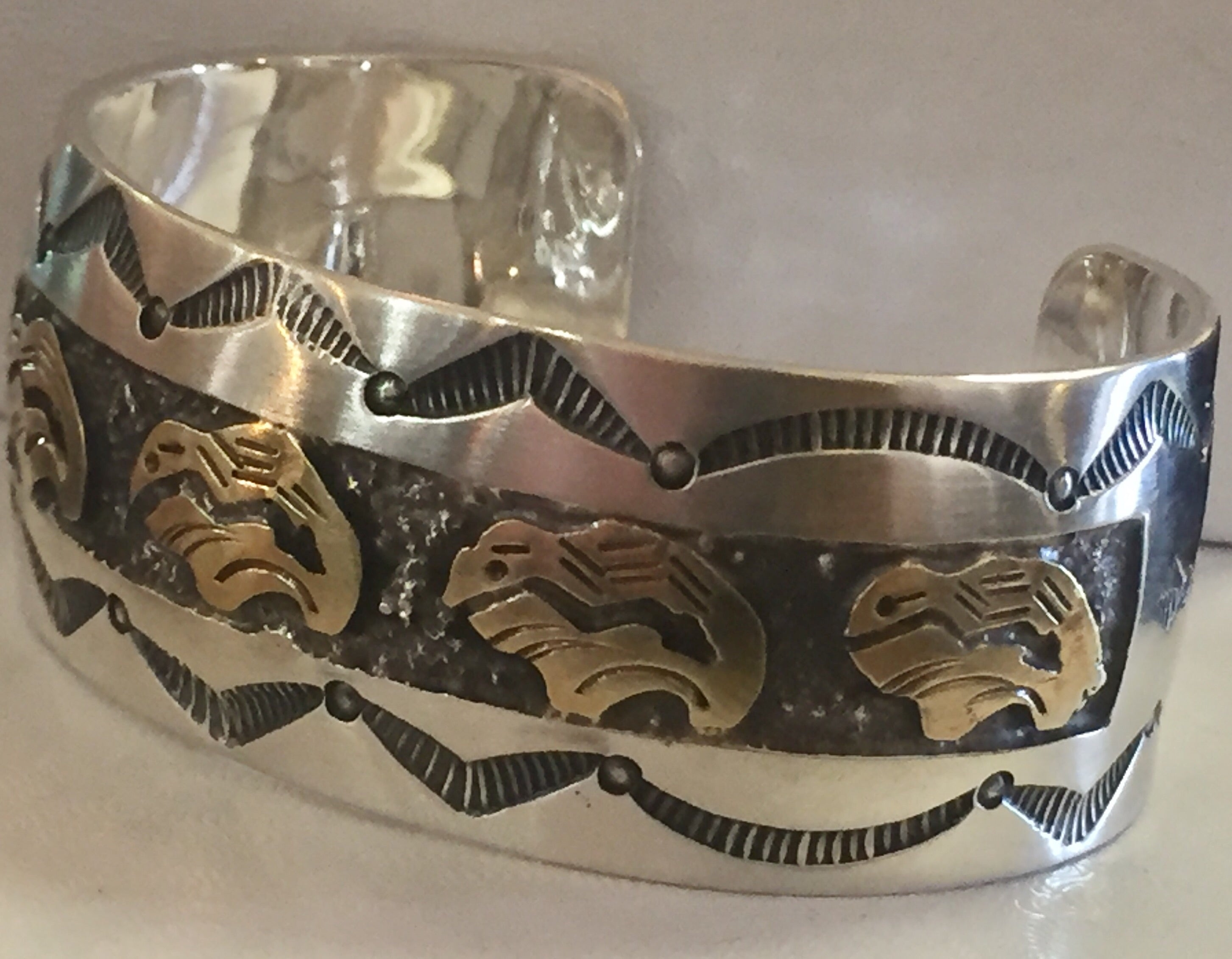 Sterling Silver and Gold Cuff