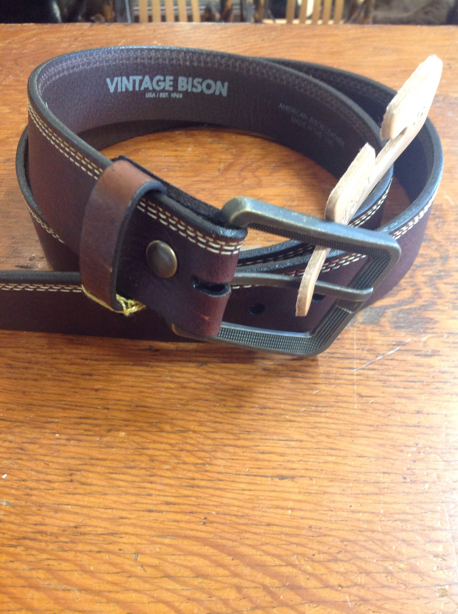 Vintage Bison Belts / Appaloosa / Dark Brown VB- 1053