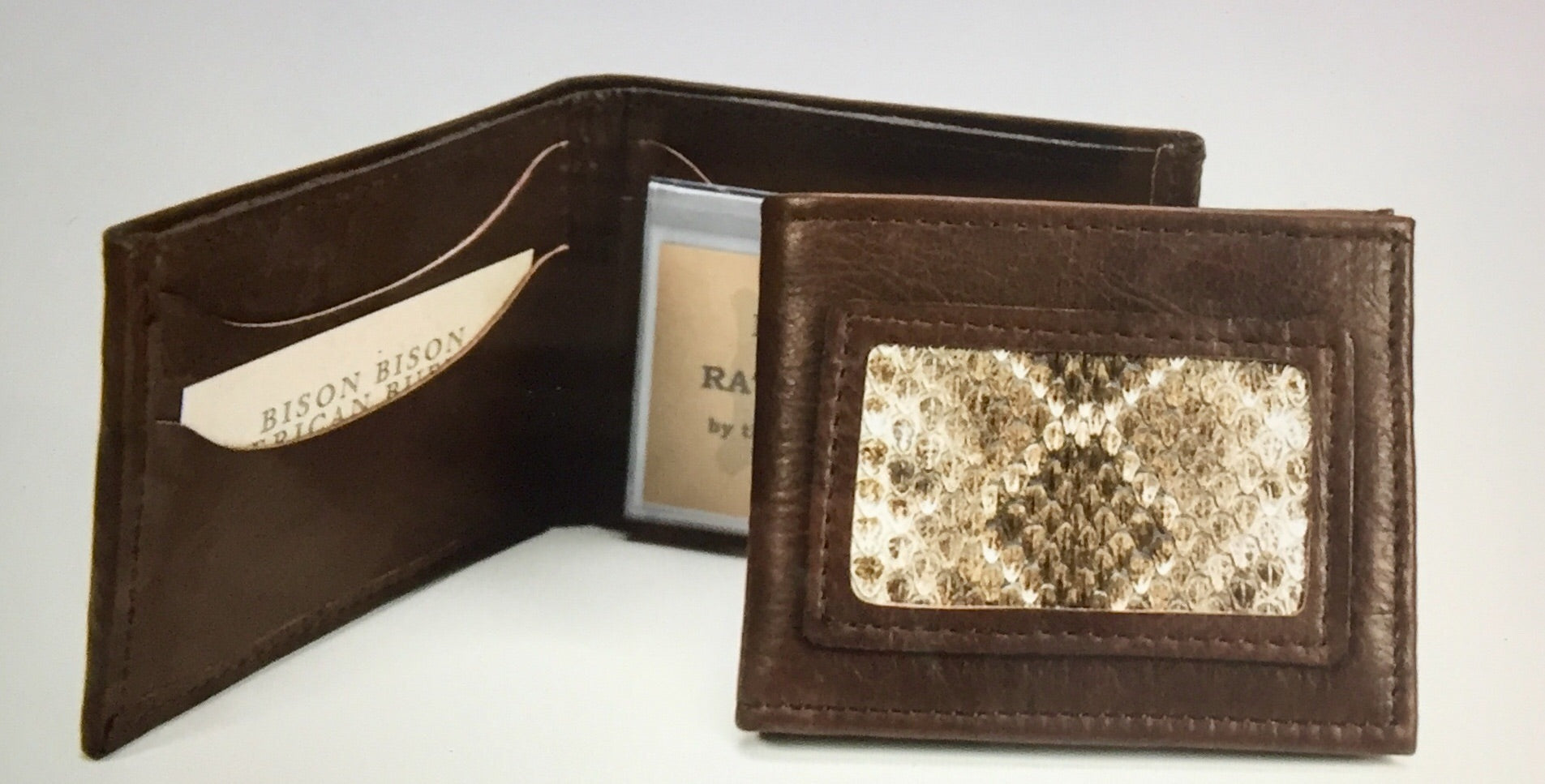 Bison and Rattlesnake Bifold Billfold / Wallet