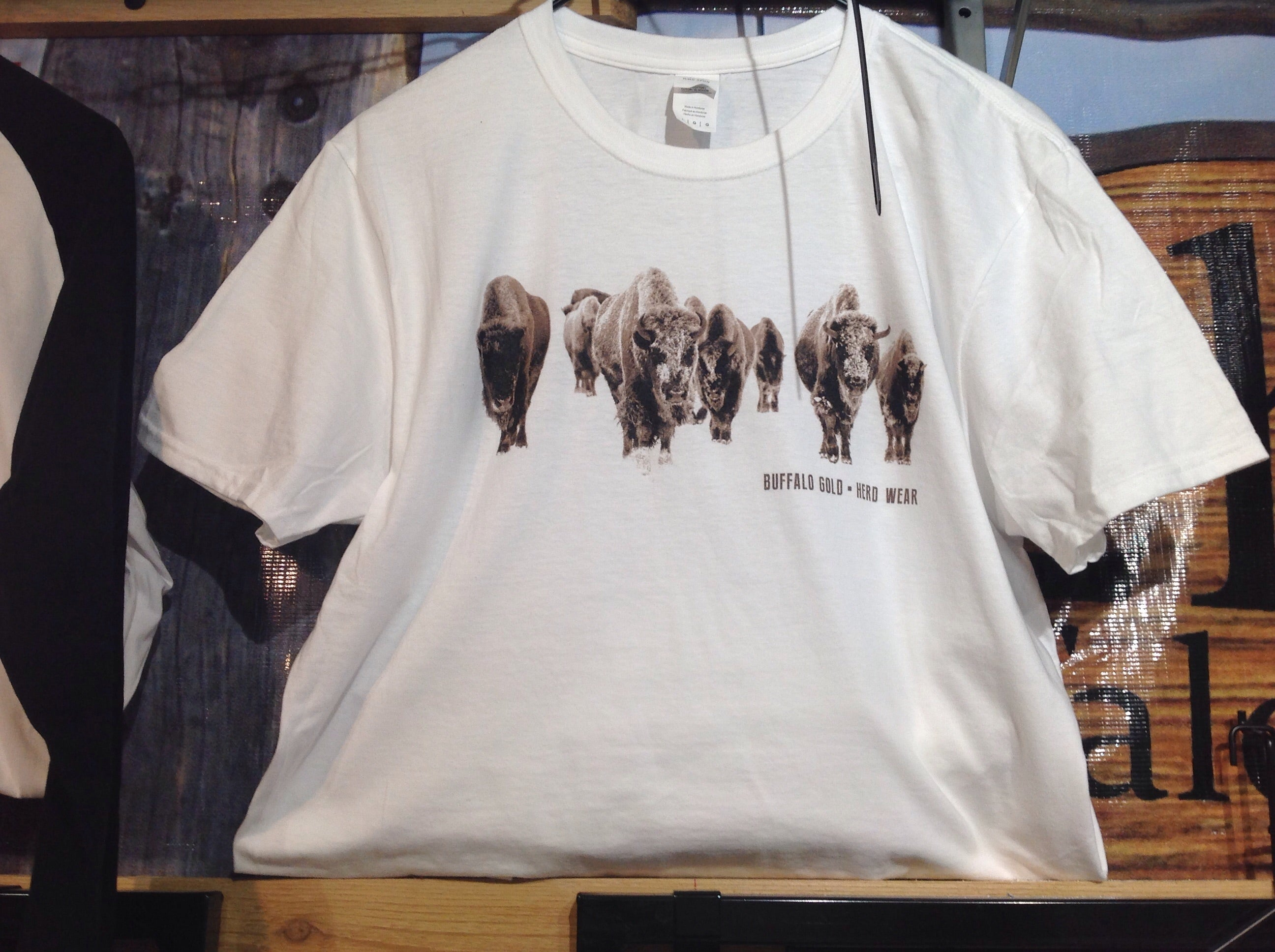 """Winter Bison"" T-shirts"