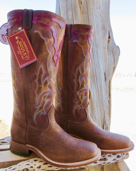 Tall Women's Boulet Western Rodeo Boots 16