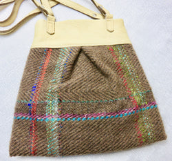 Annette Graener Hand Woven Bison fabric Purse