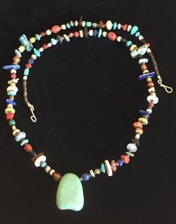 Multi Stone Pueblo Necklace and Earrings