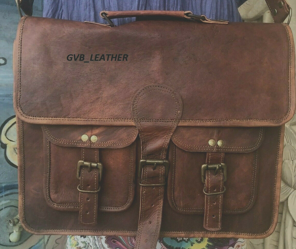 """Vintage"" Leather Laptop Attaché Case"
