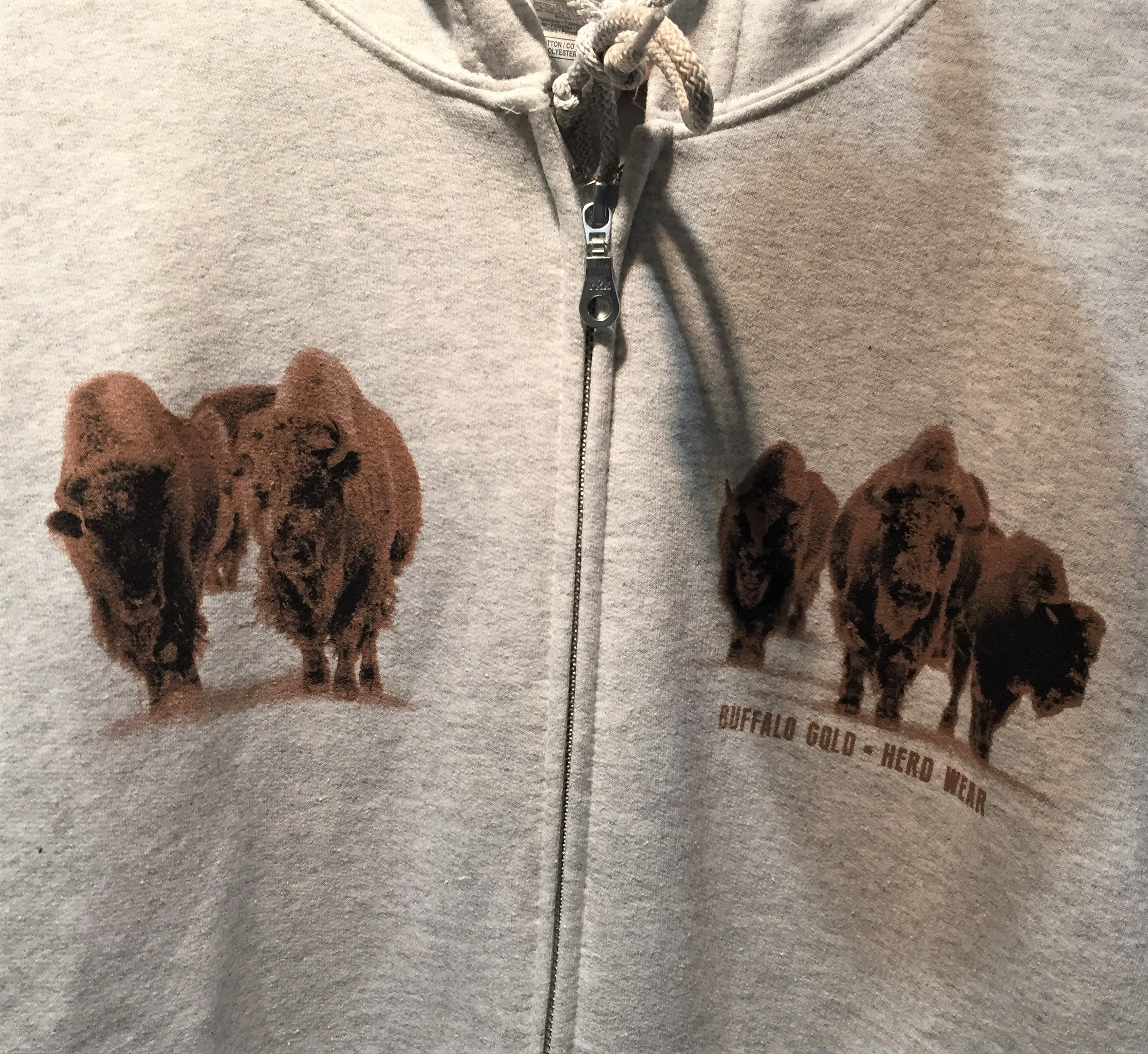 Winter Bison Zip Up Hoodie