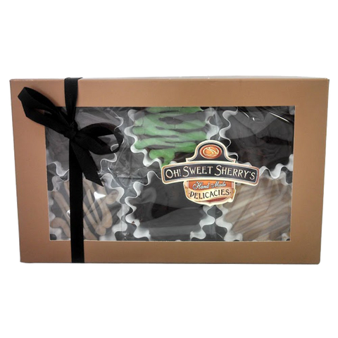 Gourmet Fudge Candy Gift Box 6 Flavors  Chocolate, Rocky Road
