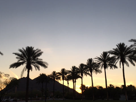 sunset over Camelback Phoenix