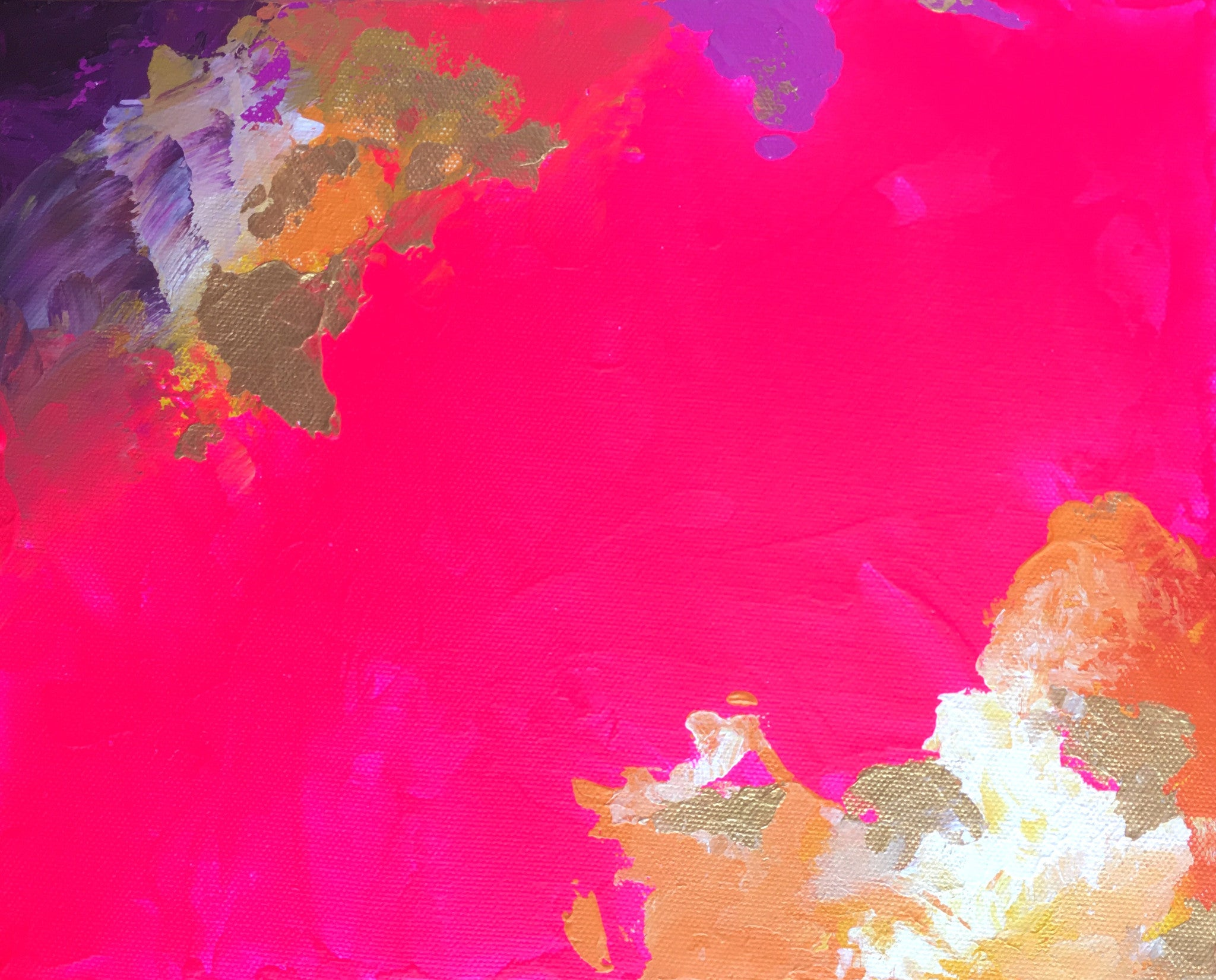 Hot Pink Abstract I 8x10