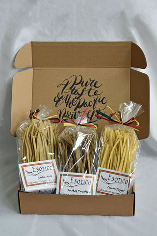 CULINARY Pasta Variety (pack of 3) - HERB AND GARLIC, LEMON PEPPER AND SMOKED PORTOBELLO - Bear Claw Organics, LLC