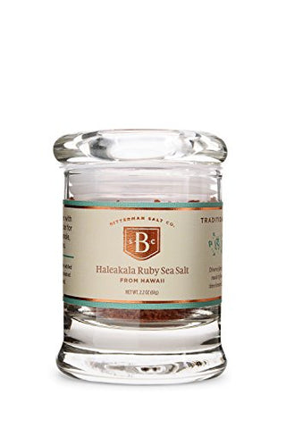 Bitterman's Haleakala Ruby Hawaiian Sea Salt - Small Jar