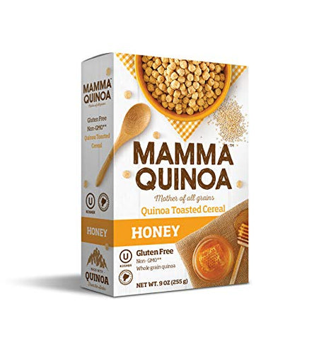 Mamma Quinoa Cereal, Mother of All Grains, Honey Flavor, Pack of 2, 9 Ounces Each