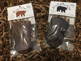 Dark Chocolate Black Bear Claw and Milk Chocolate Bear Claw – 2 gourmet chocolate bars - Bear Claw Organics, LLC
