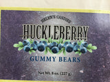 Huckleberry Gummy Bears - Deep dark purple little bears with a chewy huckleberry flavor. - Bear Claw Organics, LLC