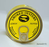 USA Farmed All Natural Lemon Pepper Flavor Smoked Oysters Ekone