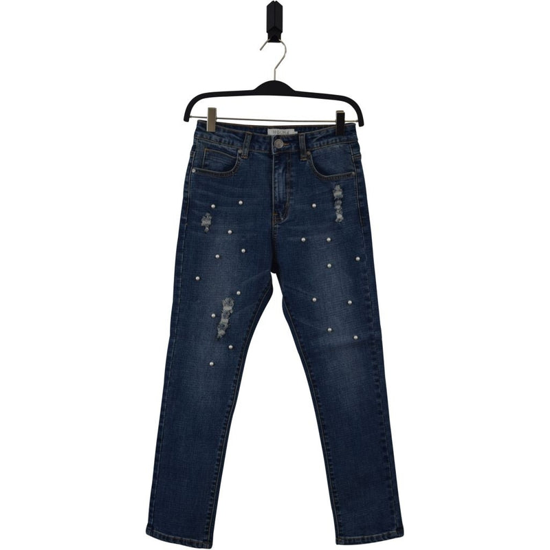 HOUNd GIRL MOM jeans w. pearl embellishment Jeans 832