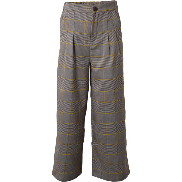 HOUNd GIRL Wide pants checks pants Gul
