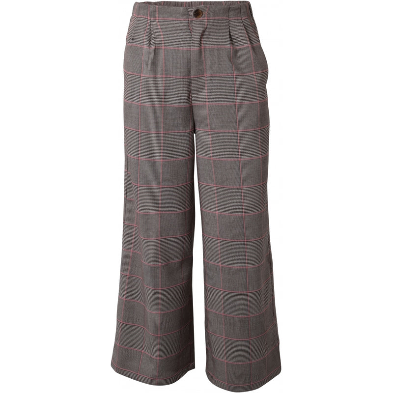 HOUNd GIRL Wide pants checks pants Lyserød